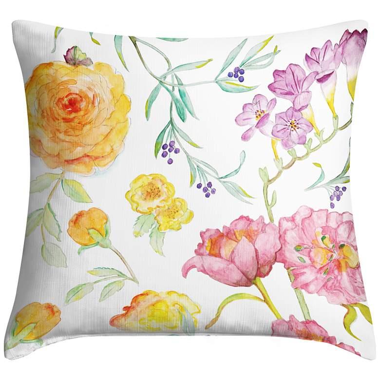 """Spring Garden 18"""" Square Throw Pillow"""