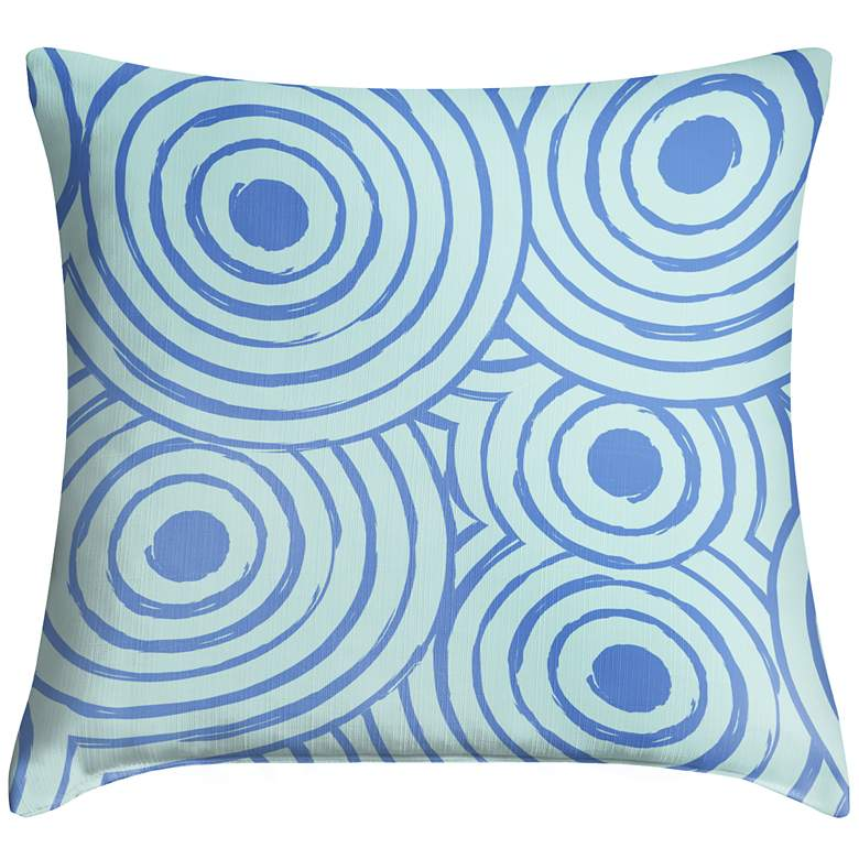 "Circle Daze 18"" Square Throw Pillow"