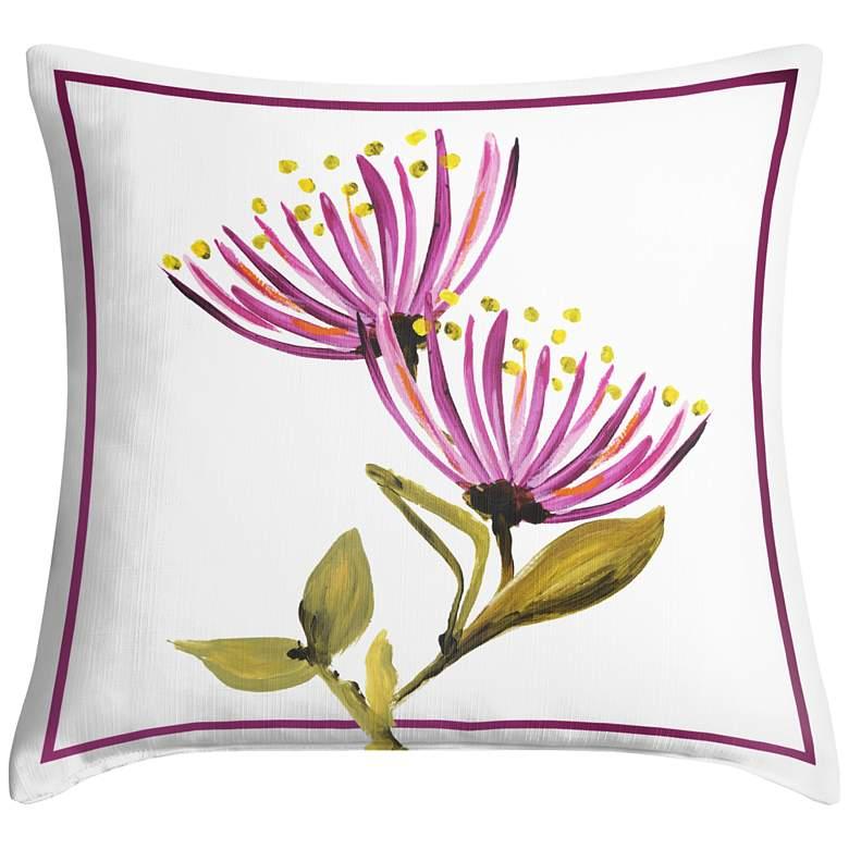 "Bountiful Blooms II 18"" Square Throw Pillow"