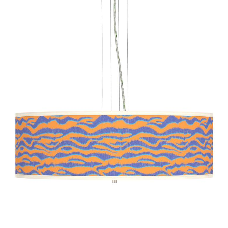 "Sunset Stripes Giclee 24"" Wide 4-Light Pendant Chandelier"