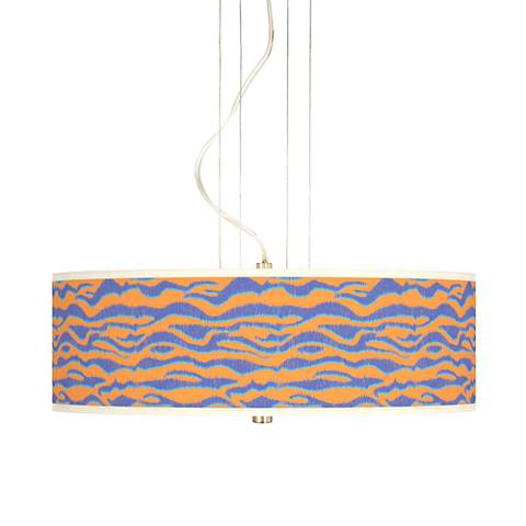 "Sunset Stripes 20"" Wide 3-Light Pendant Chandelier"