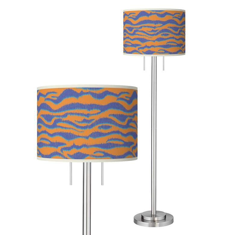 Sunset Stripes Giclee Brushed Nickel Garth Floor Lamp