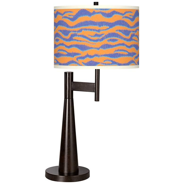 Sunset Stripes Giclee Novo Table Lamp