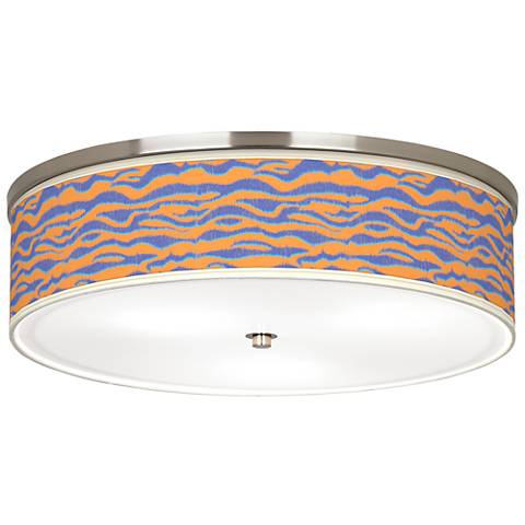 """Sunset Stripes Giclee Nickel 20 1/4"""" Wide Ceiling Light"""
