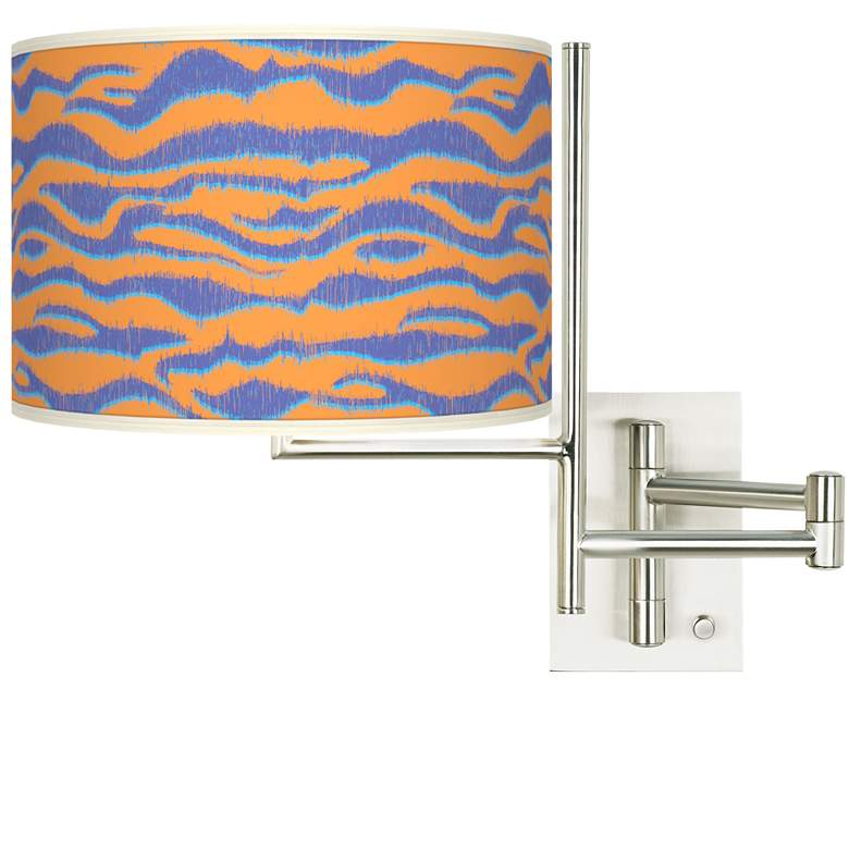 Tempo Sunset Stripes Plug-in Swing Arm Wall Lamp