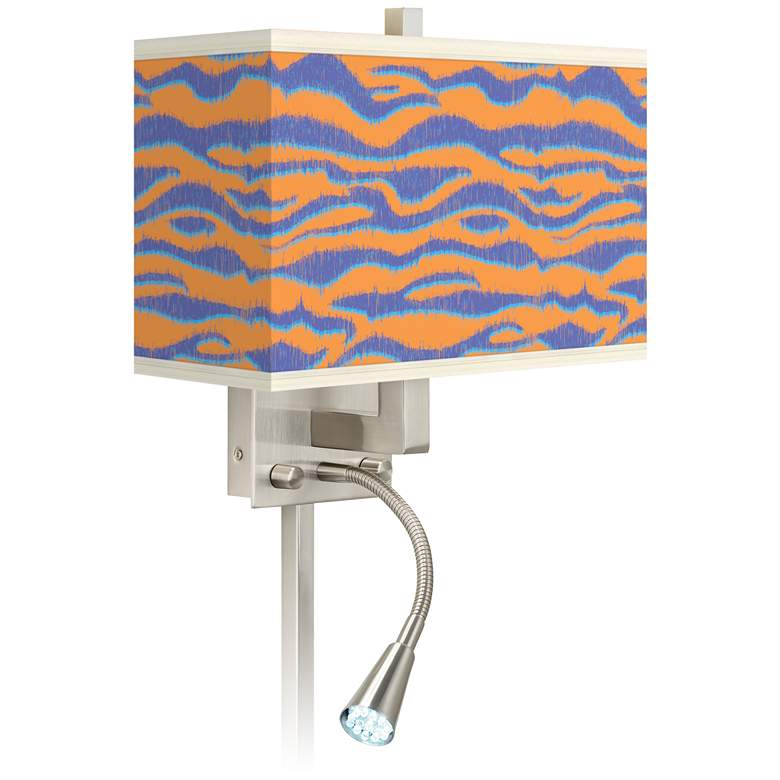 Sunset Stripes Giclee Glow LED Reading Light Plug-In Sconce