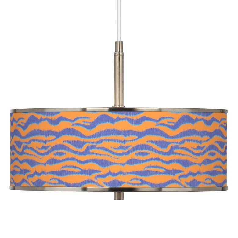 "Sunset Stripes Giclee Glow 16"" Wide Pendant Light"