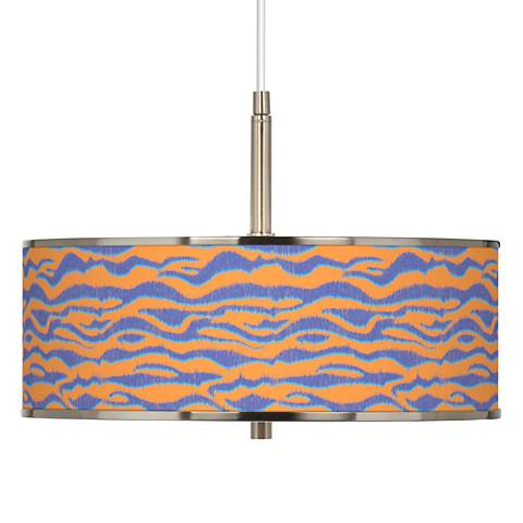 "Sunset Stripes Giclee Glow 16"" Wide Pendant Light"