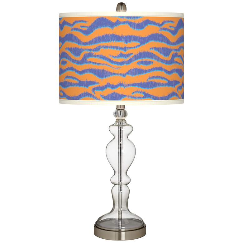 Sunset Stripes Giclee Apothecary Clear Glass Table Lamp