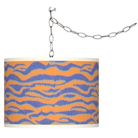 Sunset Stripes Giclee Glow Plug-In Swag Pendant