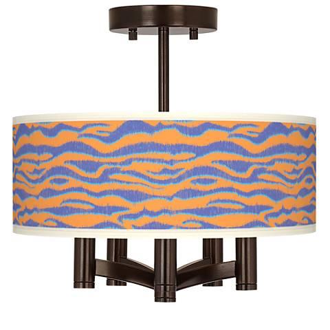 Sunset Stripes Ava 5-Light Bronze Ceiling Light