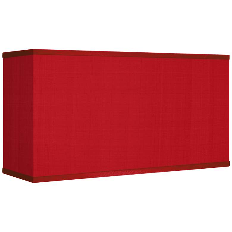 Red Textured Faux Silk Rectangular Shade 8/17x8/17x10