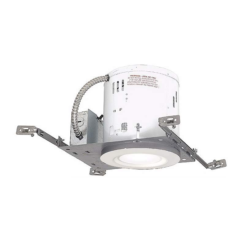 "6"" Non-IC New Construction 15W Complete Recessed Kit"