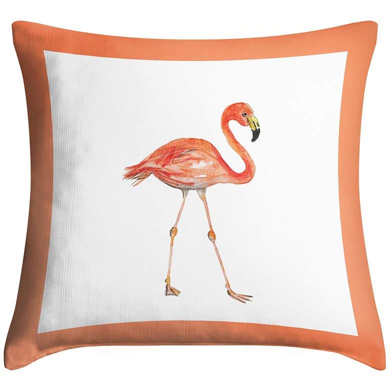 "Flock of Flamingos I 18"" Square Throw Pillow"