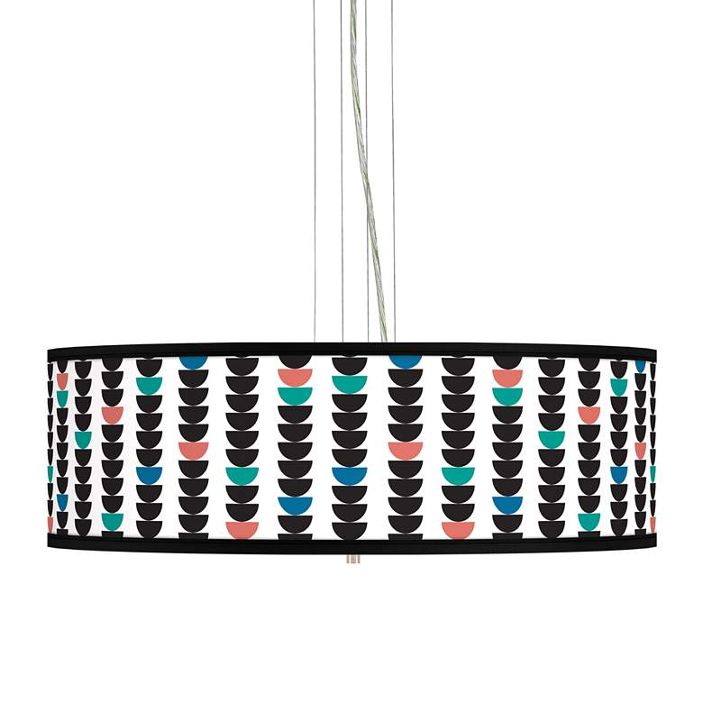 "Semi-Dots Giclee 24"" Wide 4-Light Pendant Chandelier"