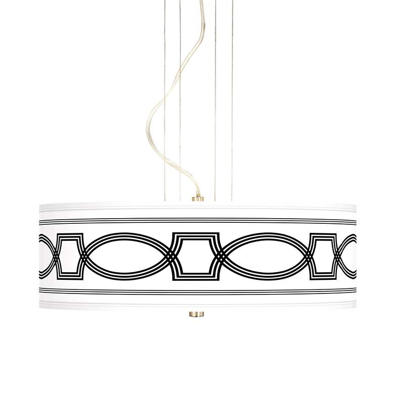 "Concave 20"" Wide 3-Light Pendant Chandelier"
