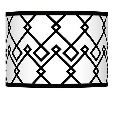 Diamond Chain Giclee Lamp Shade 13.5x13.5x10 (Spider)
