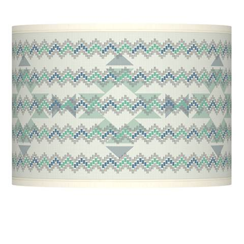 Triangular Stitch Giclee Lamp Shade 13.5x13.5x10 (Spider)