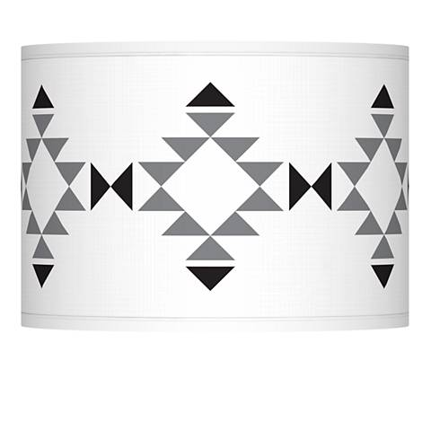 Desert Grayscale Giclee Lamp Shade 13.5x13.5x10 (Spider)