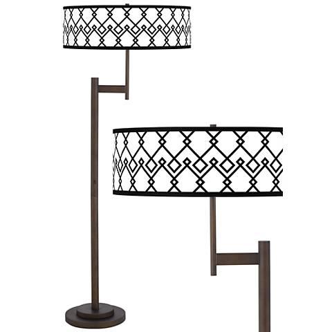 Diamond Chain Giclee Parker Light Blaster™ Bronze Floor Lamp