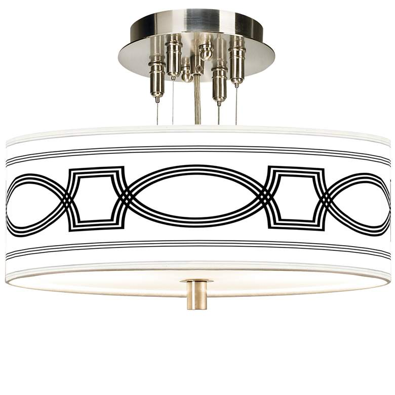 """Concave Giclee 14"""" Wide Ceiling Light"""
