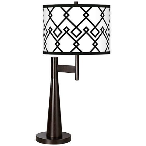 Diamond Chain Giclee Novo Table Lamp
