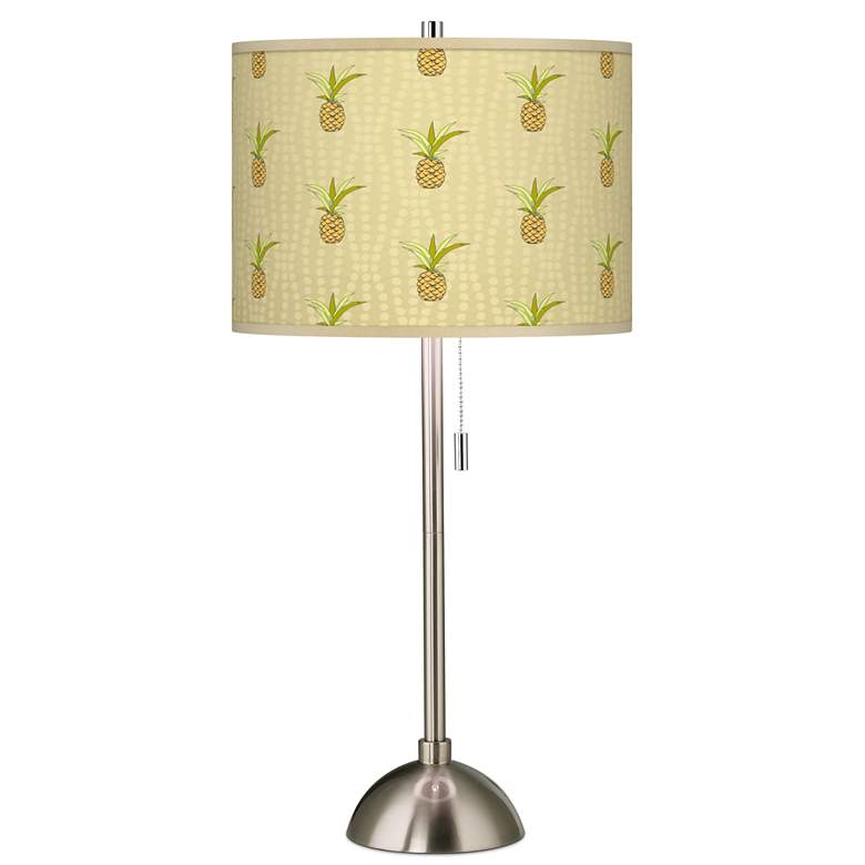 Pineapple Delight Giclee Brushed Nickel Table Lamp