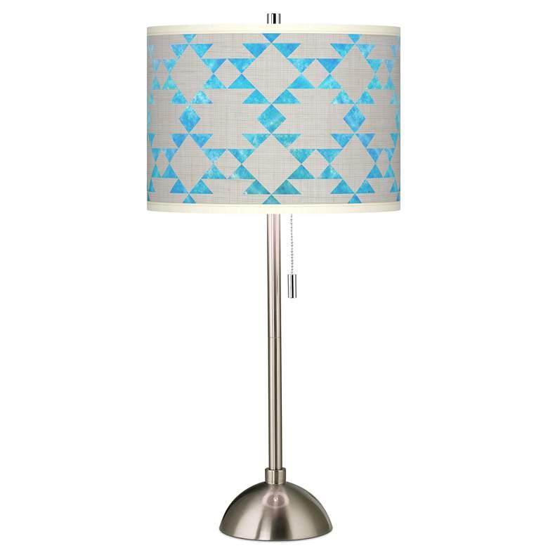 Desert Aquatic Giclee Brushed Nickel Table Lamp