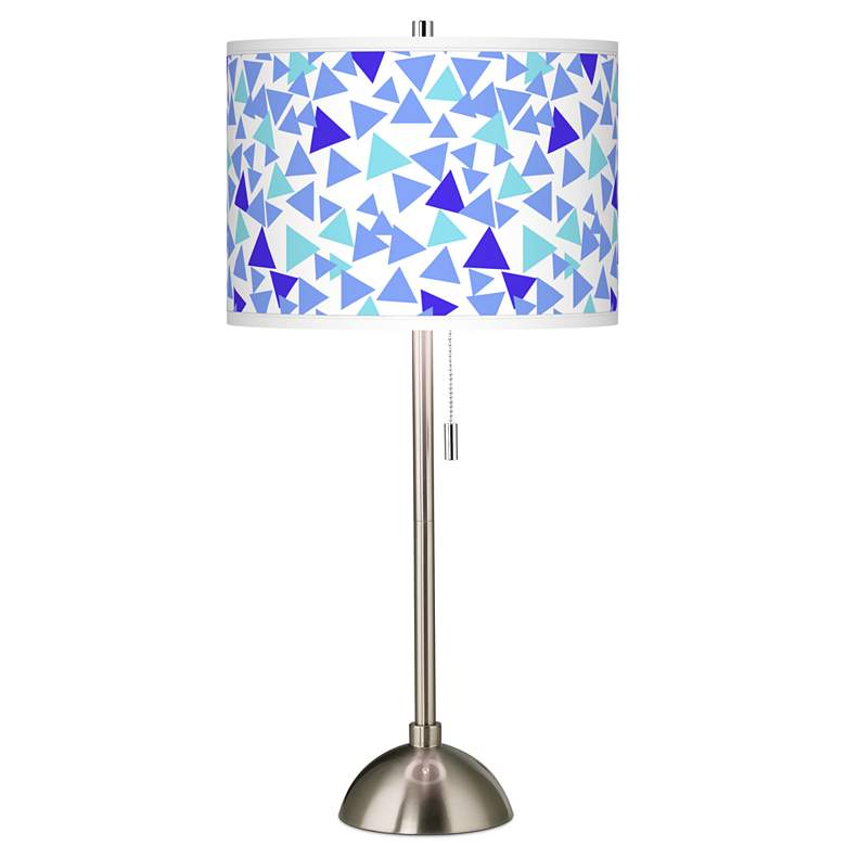 Geo Confetti Giclee Brushed Nickel Table Lamp