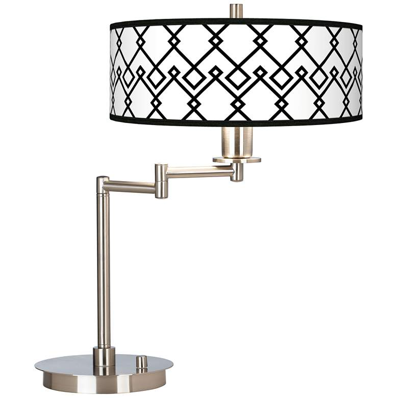 Diamond Chain Giclee CFL Swing Arm Desk Lamp