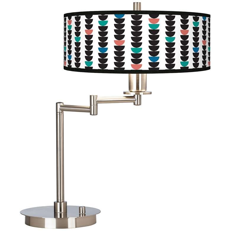 Semi-Dots Giclee CFL Swing Arm Desk Lamp