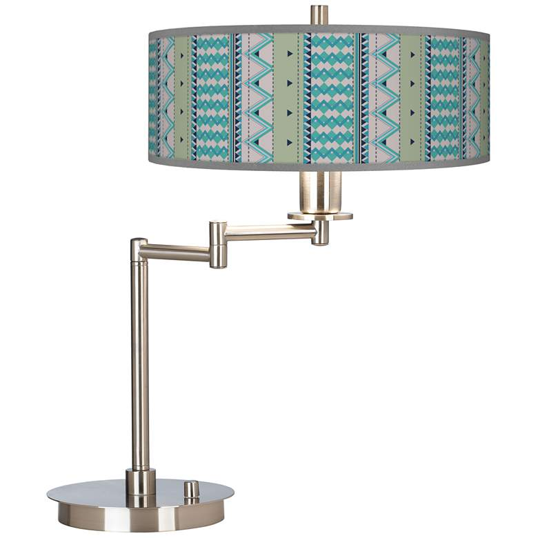 Geo Metrix Giclee CFL Swing Arm Desk Lamp