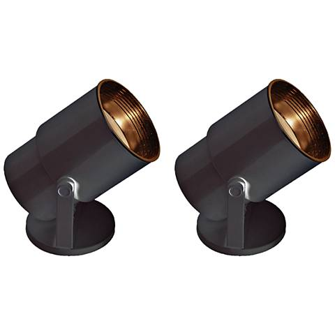 "Black Finish 8"" High Accent Uplight Set of 2"