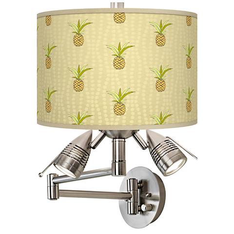 Pineapple Delight Giclee Swing Arm Wall Lamp
