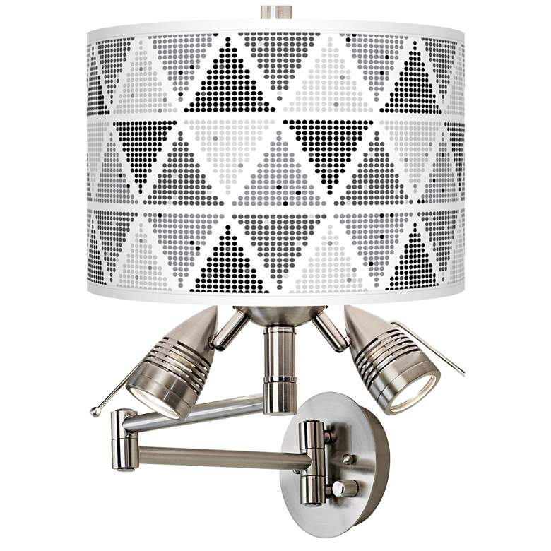 Pointillism Giclee Swing Arm Wall Lamp