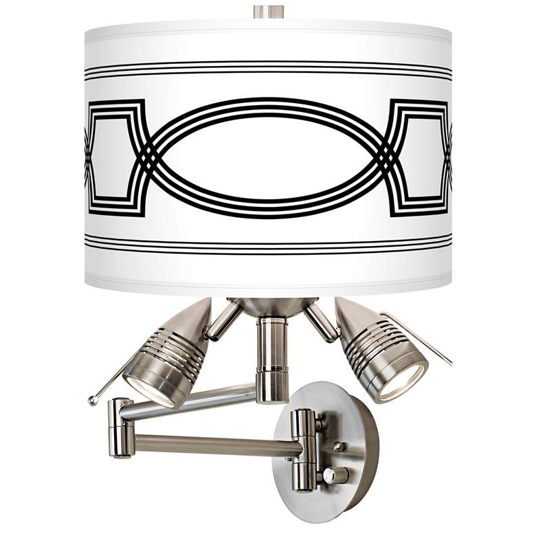 Concave Giclee Plug-In Swing Arm Wall Lamp