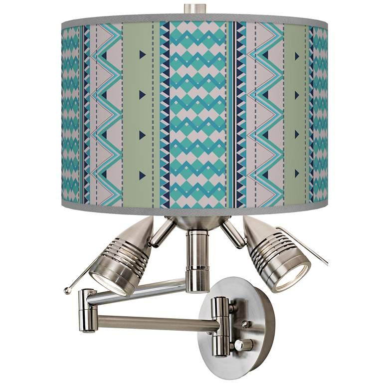 Geo Metrix Giclee Swing Arm Wall Lamp