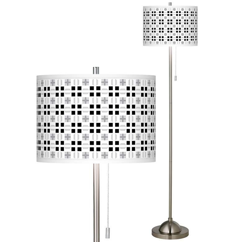 Quadrant Brushed Nickel Pull Chain Floor Lamp