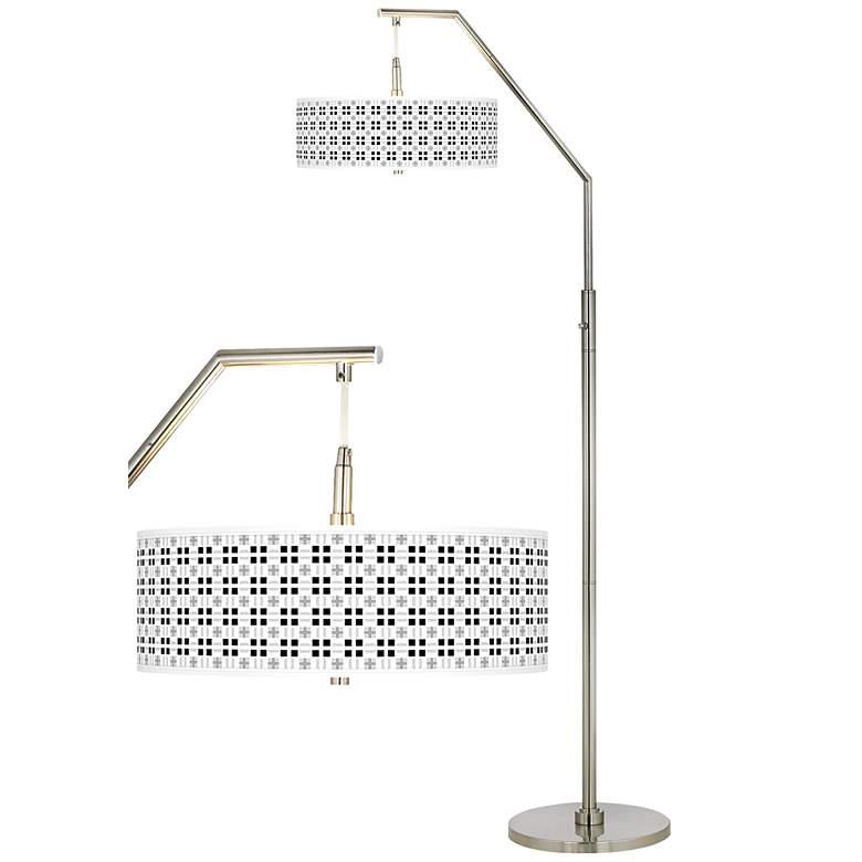 Quadrant Giclee Shade Arc Floor Lamp