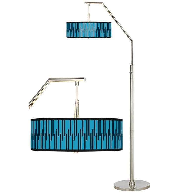Segments Giclee Shade Arc Floor Lamp