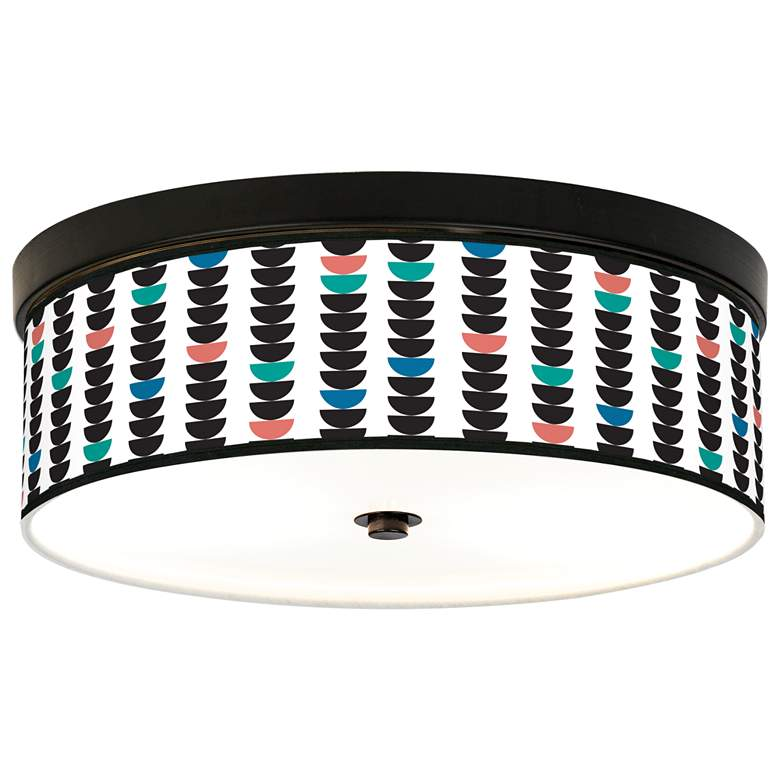 Semi-Dots Giclee Energy Efficient Bronze Ceiling Light