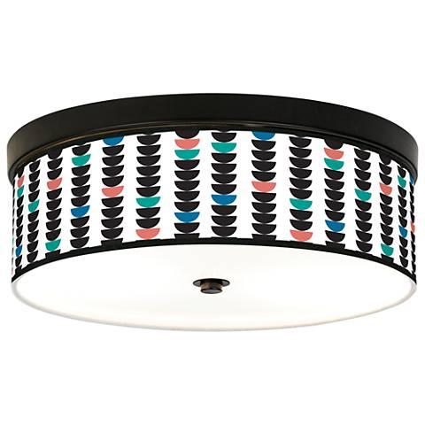 Semi-Dots Giclee Energy Efficient Bronze Ceiling Light