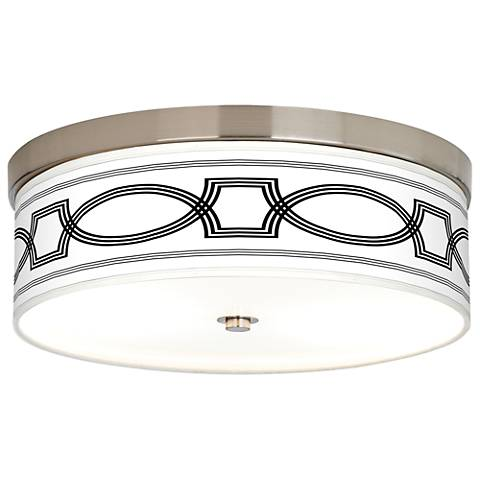 Concave Giclee Energy Efficient Ceiling Light