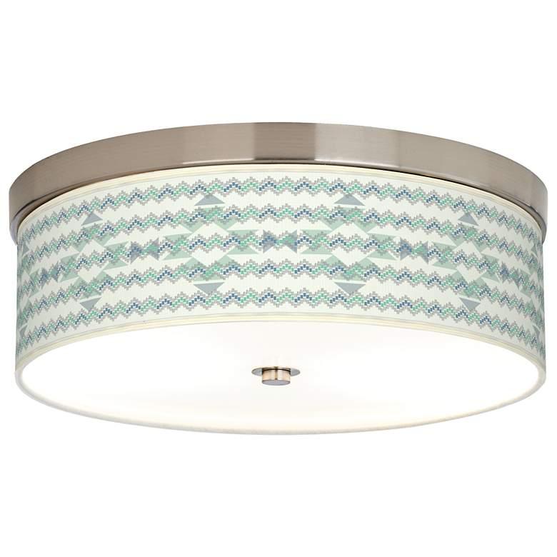 Triangular Stitch Giclee Energy Efficient Ceiling Light