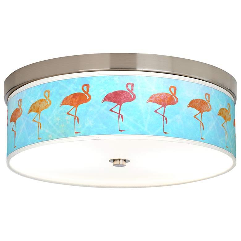 Flamingo Shade Giclee Energy Efficient Ceiling Light