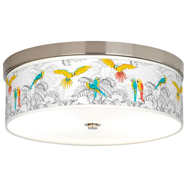 Macaw Jungle Giclee Energy Efficient Ceiling Light