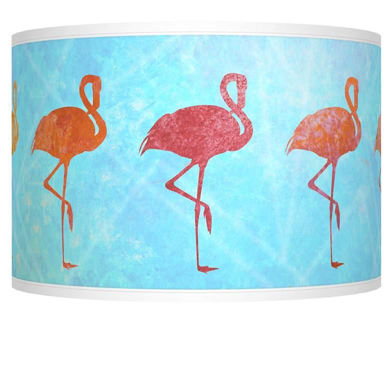 Flamingo Shade Giclee Shade 12x12x8.5 (Spider)