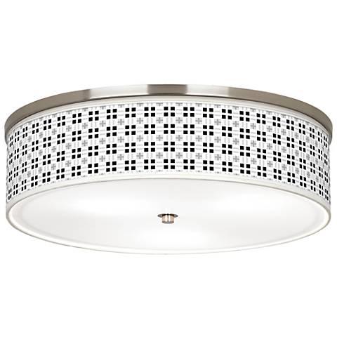 "Quadrant Giclee Nickel 20 1/4"" Wide Ceiling Light"