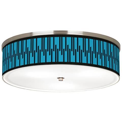 "Segments Giclee Nickel 20 1/4"" Wide Ceiling Light"