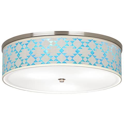 "Desert Aquatic Giclee Nickel 20 1/4"" Wide Ceiling Light"